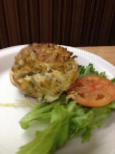 Mom's crab cake..also yummy!