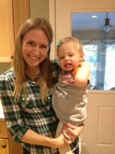 Me and Megan's daughter, Noelle, sometime last year