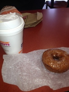 Pumpkin donut + DD Coffee = Happiness