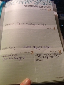 Wow this weekend is busy :)