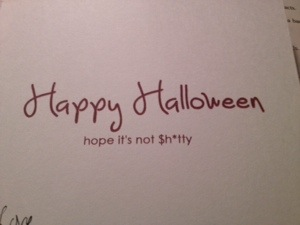 The sister's Halloween card (inside)