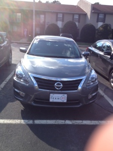 The yet to be name 2015 Nissan Altima (and a little bit of my finger)